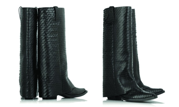 givenchy leather covered heel boots
